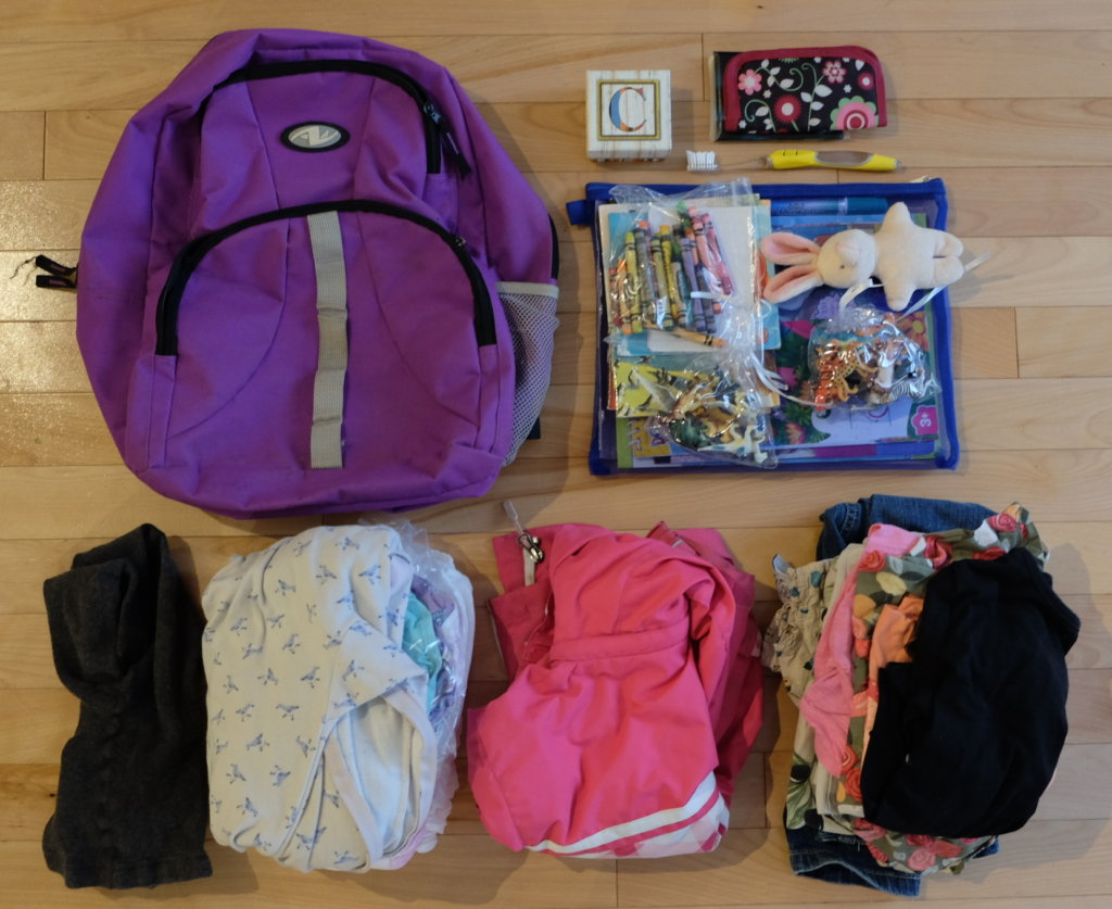 minimalist kids travel capsule wardrobe